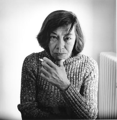 "wwnorton:  thenoiseinme:  Patricia Highsmith by Dmitri Kasterine  ""Her hands are enormous: square, powerful, and as large as her head. They are gnarled and nicked from her woodworking and her gardening. 'Worker's hands,' says one friend. 'Butcher's hands, strangler's hands,' ventures a neighbor. Her thumbs are extraordinary: huge curved digits, bent out naturally at what appear to be unnatural angles to the rest of her fingers."" —Joan Schenkar, from The Talented Miss Highsmith: The Secret Life and Serious Art of Patricia Highsmith.  Learn more about Patricia Highsmith."