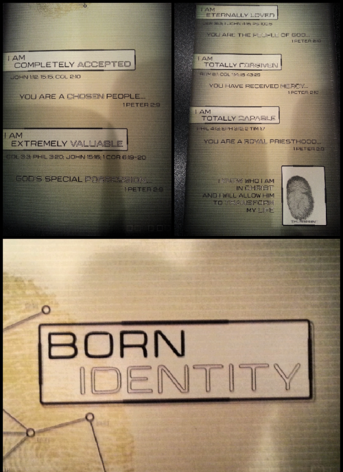 Born Identity Sermon @ Summit Christian Church.  In Christ I am:  1) Completely Accepted (John 1:12, 15:15; Col 2:10)  2) Extremely Valuable (Col 3:3, Phil 3:20, John 15:16, 1 Cor 6:19-20)  3) Eternally Loved (Jer 31:3, 1 John 4:16, PS 100:5)  4) Totally Forgiven (Rom 8:1, Col 1:14, Is 43:25)  5) Totally Capable (Phil 4:13, Eph 3:12, 2 Tim 1:7)