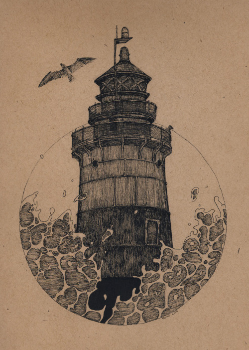 eatsleepdraw:  Green's Ledge Lighthouse Norwalk, CT