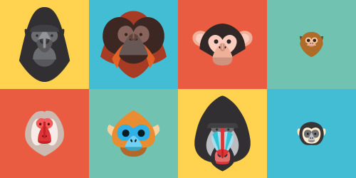 Super nice stuff by MailChimp's Justin Pervorse. There's much more than just monkeys by the way.