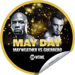 "I just unlocked the Floyd Mayweather vs. Robert Guerrero sticker on GetGlue                      2735 others have also unlocked the Floyd Mayweather vs. Robert Guerrero sticker on GetGlue.com                  Eight-time and five-division world champion Floyd ""Money"" Mayweather looks to keep his perfect record intact against six-time and four-division world champion Robert ""The Ghost"" Guerrero. Thanks for watching boxing's pound-for-pound king on SHOWTIME PPV!  Share this one proudly. It's from our friends at Showtime Sports."