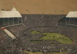 footballarchive:  'Wembley 1923' by Reginald Brown. Oil on canvas, depicting the White Horse Final in 1923.Source: BBC