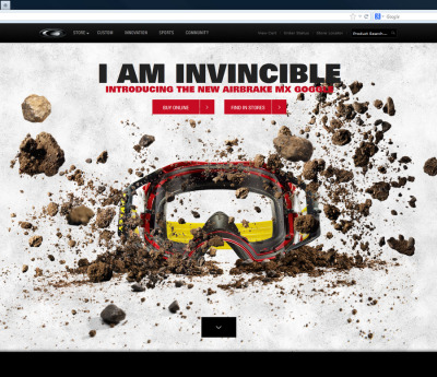 solid use of parallax web design @oakley