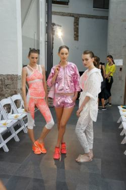 maddbrown:  Backstage at Adidas with Olivia Thornton and Christina Carey