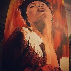 Working on Erykah badu some more but it needs to dry a little. #art #oilpainting #painting #wip #workinprogress #erykahbadu #music #hiphop