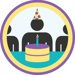 lifescouts:  Lifescouts: Birthday Party Badge If you have this badge, reblog it and share your story! Look through the notes to read other people's stories. Click here to buy this badge physically (ships worldwide). Lifescouts is a badge-collecting community of people who share their real-world experiences.  As it is cake month I can say that I've had a few parties. One of the house's cleaners was a great cake maker so we had a range of nice cakes. Recently…well, my birthday is always at a weird time being the end of May. End of term. People had places to be. Also people keep ending up in hospital or getting hurt. Let's see how this month works out! BADGES: 29