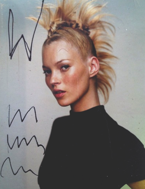 somethingvain:  kate moss by mario testino in a rejected cover for W magazine 2000