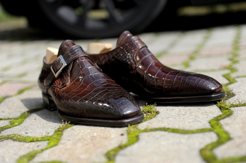 frecciabestetti:  Bespoke Alligator monkstrap for a Dutch client at Pauw Mannen