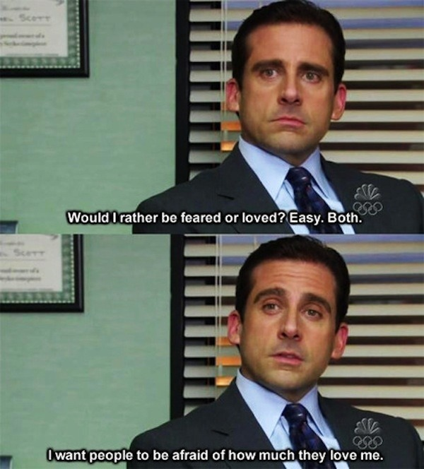 theofficenbc:  1/37 wise words of Michael Scott.