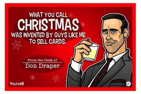flavorpill:  Here's Don Draper's Christmas Card