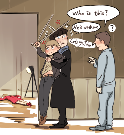 irishyoga:  seki0930:  Sherlock got a new friend.  guh this is so presh im going to die