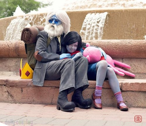 dorkly:  Adventure Time Simon and Marceline Cosplay He seems like a pretty chill guy.