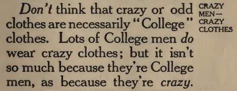 ~ The College Freshman's Don't Book, by George Fullerton Evans, 1910via Internet Archive