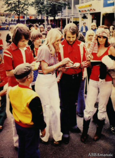 abbamaniac:  ABBA at the amusement park, Gröna Lund (Stockholm) in 1967