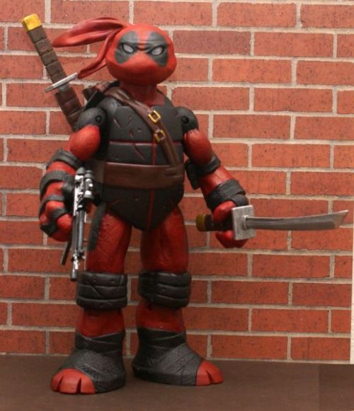underpantsandcapes:  Teenage Mutant Ninja Turtle Deadpool Custom Action Figure