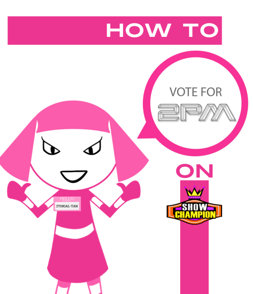 twooneday:  [TUTORIAL] How to vote for 2PM on MBC Music Show Champion  The netizen poll makes up 10% of the final score! You can vote 3 times a day, every day from Tuesday - Sunday! Visit 2ONEDAY.COM for the full tutorial!