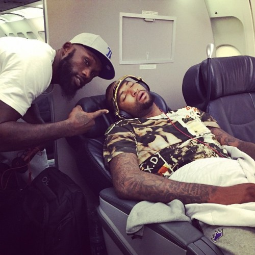 "24seconds:  ""You tired bro? @boogiecousins"" by omricasspi18http://instagram.com/p/uWpYClr8-2/"