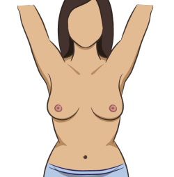 "Illustrations for instructions on how to perform breast cancer self examinations, for Philips's iphone app ""The Pink Test"". For design agency Minnesota."