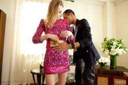vogue:  Olivier Rousteing helps Kate Bosworth get ready for the Met Gala See more photos here.
