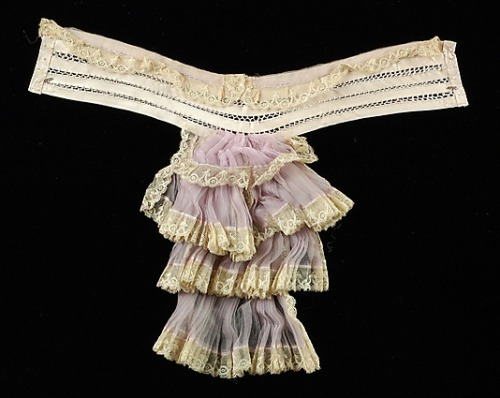 omgthatdress:  Lady's Jabot 1905 The Metropolitan Museum of Art  Wait, that's not a thong at all.