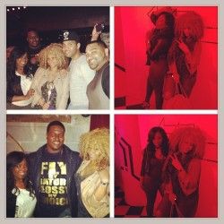 #GoodTimes last night with the #Clique @meekaclaxton @bryantmckinnie @ianjarrell #thinkPYNK #beBLEU #liveELITE