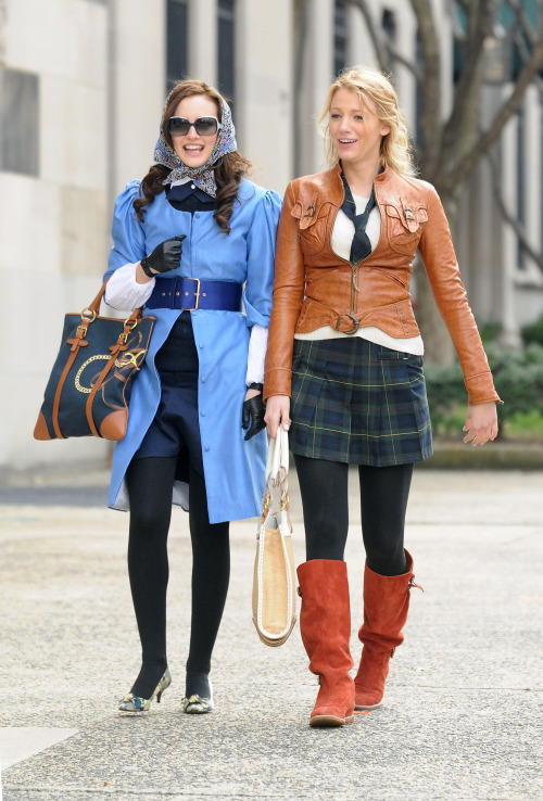 Spotted: Blair and Serena heading back-to-school in style»