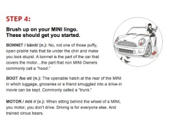 MINI :: Test-drive Checklist As part of a new MINI CRM initiative, we created this cheeky to-do list for potential tire-kickers.
