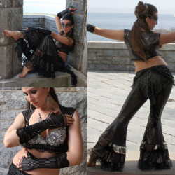 grimlyfiendishfinds:  Gothic Belly Dance Costume Set