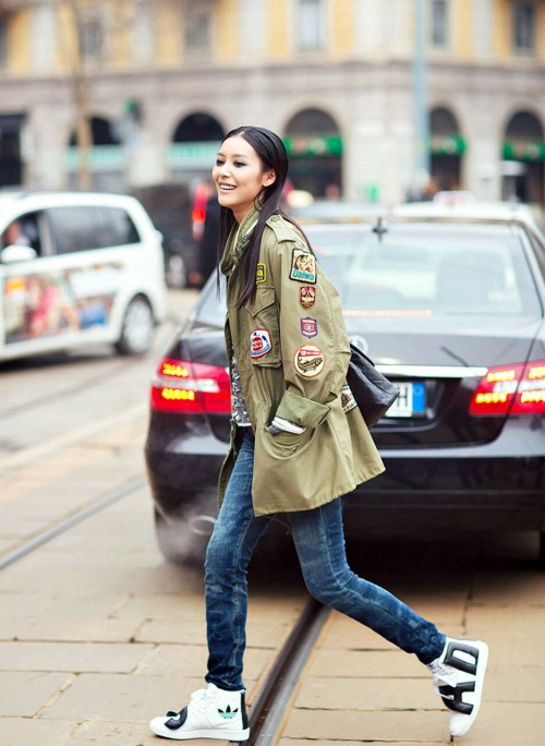 model-of-the-week:  Liu Wen  Streetstyle