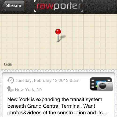 @nyc @nycmayorsoffice the #mta #nyctransit system is going to be doing major #construction at #GrandCentralStation! Please post #footage of the work being done underground! #Rawporter @Rawporter #CitizenJournalism make #money $$ with your #iPhone #iPad #iOs devices! #Sell your #images and #videos! Join the #aggregate #job #market! Build your #resume overnight!   (at Grand Central Terminal)