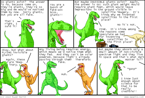 """I know just enough about science for that to be credible!"" GPOY Dinosaur Comics"