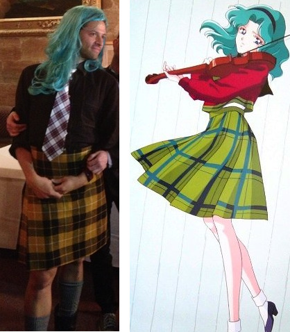 angel-in-the-dirty-trenchcoat:  (Is Misha attempting a Sailor Neptune/Michiru cosplay?)