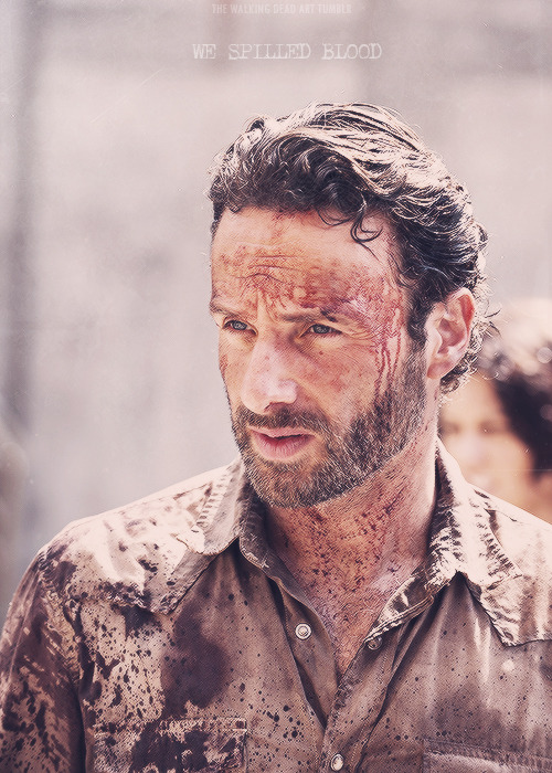 the-walking-dead-art:  Rick Grimes | We took this prison. Its ours! We spilled blood