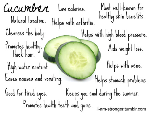 Cucumber goodness. Why it's good for you.