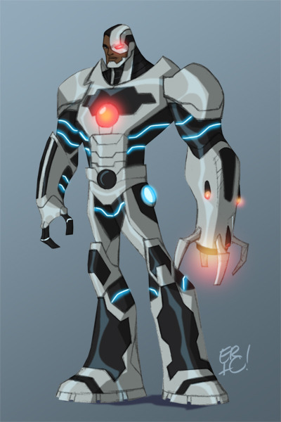 Cyborg by *EricGuzman Vic Stone never looked so awesome.