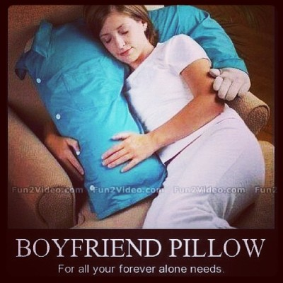 DEFINITELY need this for my birthday. #foreveralone #friendzone #boyfriendpillow #singlegirlproblems #bestbirthdaypresentever