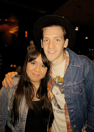 Me & Nick Santino from A Rocket To The Moon (12.21.12)