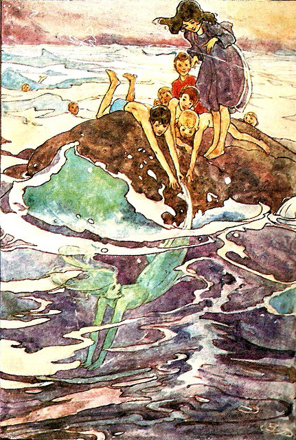 almightystarfish:  Peter Pan illustration by Alice B. Woodward
