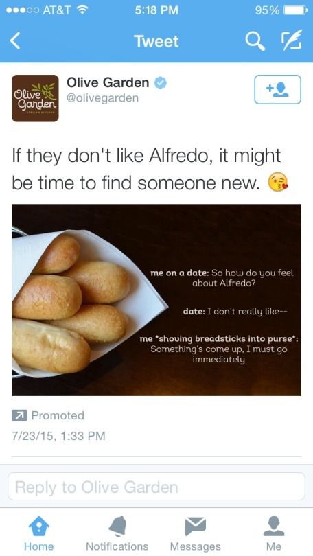 Olive Garden Has A Crazy New Breadstick Creation: Olive Garden Has Found The Breadsticks Meme. : FellowKids