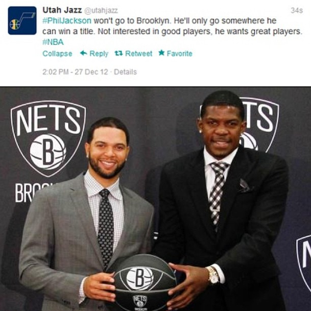 Pic: Utah Jazz Take Jab At Brooklyn Nets on Twitter.