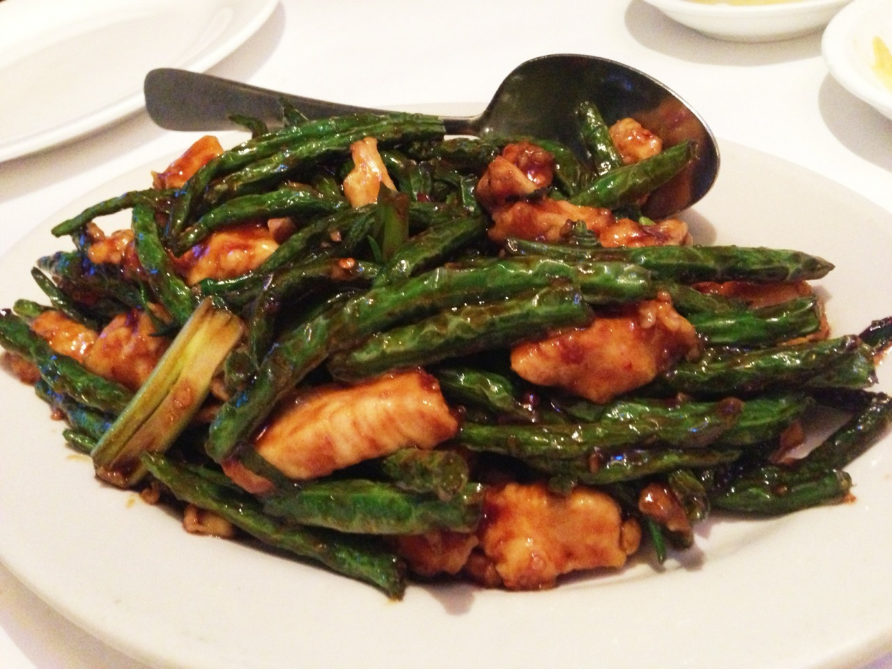 String beans and chicken from Venus. This place hits it out of the park every time. -Gastrodamus