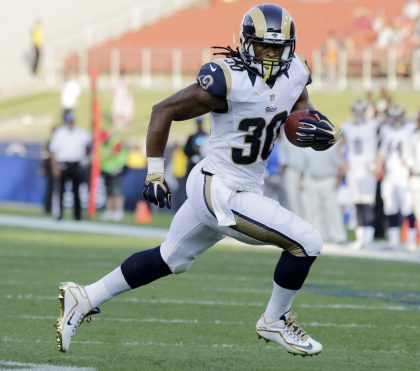 Todd Gurley made his preseason debut for the Los Angeles Rams (AP).