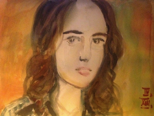 Roberta Sa ( @_robertasa ), watercolor 40x30cm, Apr/2013 #berndblacha on Flickr.