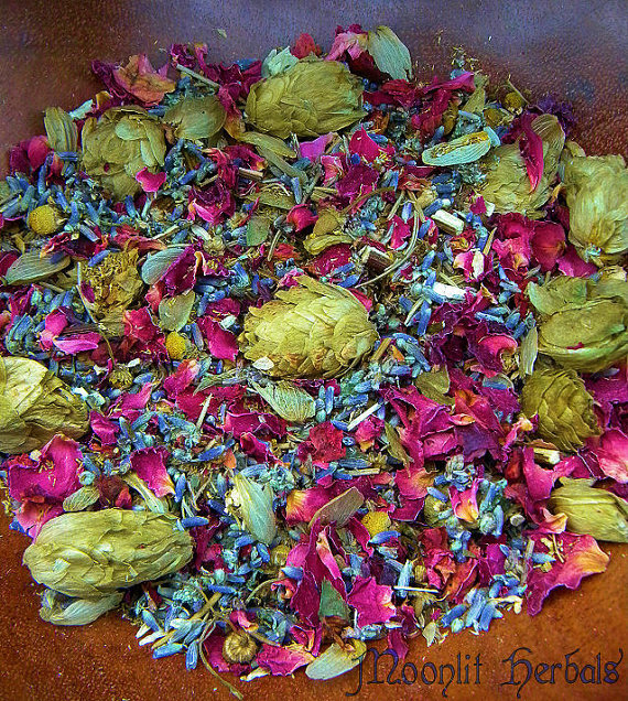 "pixiedustparcels:  Herbal blend: ""Hand-blended with organic herbs, flowers and botanicals including Mugwort, Hops, Lavender, Chamomile and Rose Petals, our Mystical Dreams Spell Blend can be used for magickal workings involving Lucid Dreaming…. It can be used in a variety of ways including as a bath tea, an incense, you can use it for stuffing poppets or putting into a dream pillow, it can be sprinkled around a candle or your altar during spell work, used as a cauldron simmer or a magickal potpourri and can be brewed to make your own ritual oil!."" I have lots of posts on magic, fantasy, medieval/renaissance history, faerie folke, etc., and some on nature, so if such images appeal to you, please do check out my blog: pixiedustparcels"