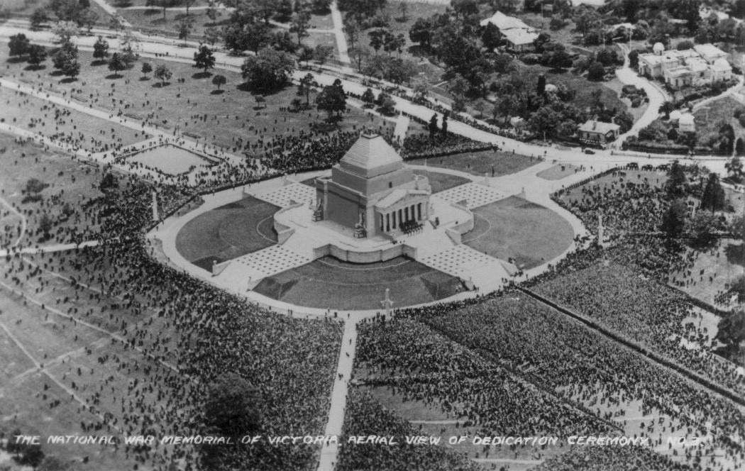 The dedication ceremony of the Shrine of Remembrance in 1934, Victoria