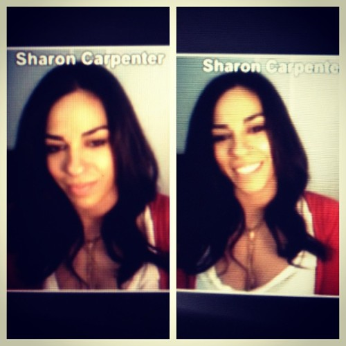 Styled the hair of the beautiful @SharonCarpenter from @VH1GossipGame for her live UStream…#Hair #Beauty #VH1 #GossipGame #UStream #RoMorgan #amoycouturehair