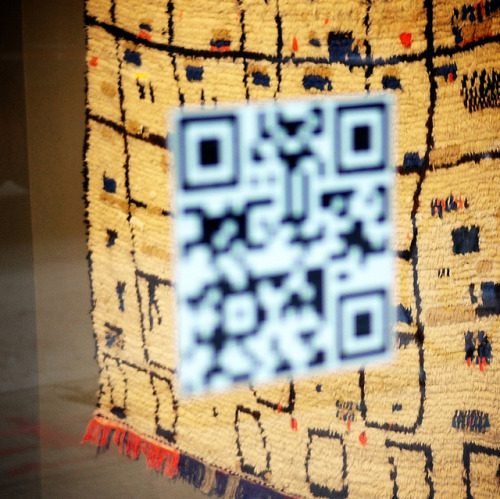 QR code vs the rug #walkingtoworktoday by Michael Surtees on Flickr.