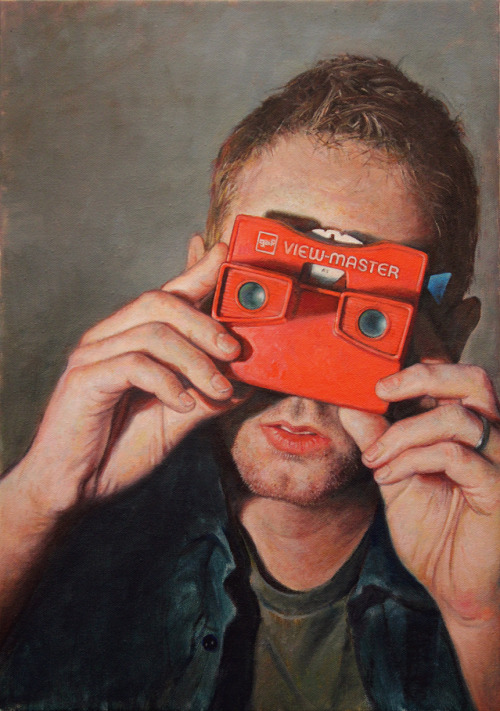 Allan Innman, For Your Viewing Pleasure (Self-Portrait), oil on canvas mounted to panel, 2013