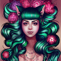 DELILAHOriginal art by Megan LaraBuy at Redbubble or Society6!