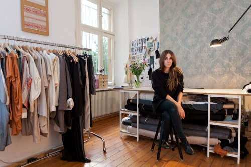 "Berlin Preview: Ones to Watch Isabell de Hillerin: Home Style Isabell de Hillerin seeks to weave together the traditional and the contemporary. The Munich-born designer uses handmade folk fabrics from Romania and Moldova to create modern — and sometimes challenging — shapes for today's women.  The 28-year-old studied at Barcelona's Felicidad Duce, and when it was time for her graduate collection, she remembered the beautiful hand-worked fabrics she saw at markets while visiting family in Romania as a child. ""It was always everywhere,"" she recalled. ""But when I really wanted to use it, I couldn't find it.""  For More Photo by Matti Hillig"